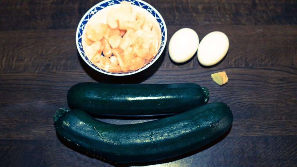 Zucchini And Shrimp Eggs Meat Pie Recipes