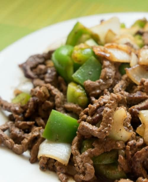 Beef strips in pepper sauce Recipes